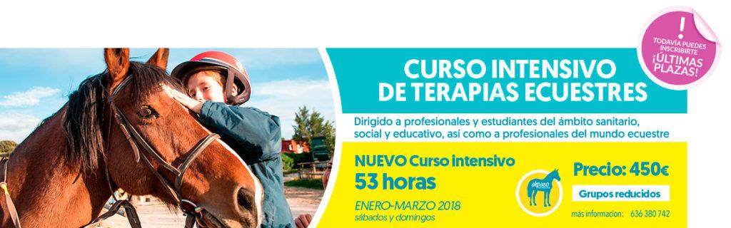 Curso Intensivo de terapias ecuestres en Madrid