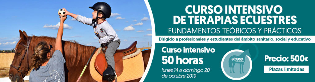 curso intensivo de terapias ecuestres octubre 2019